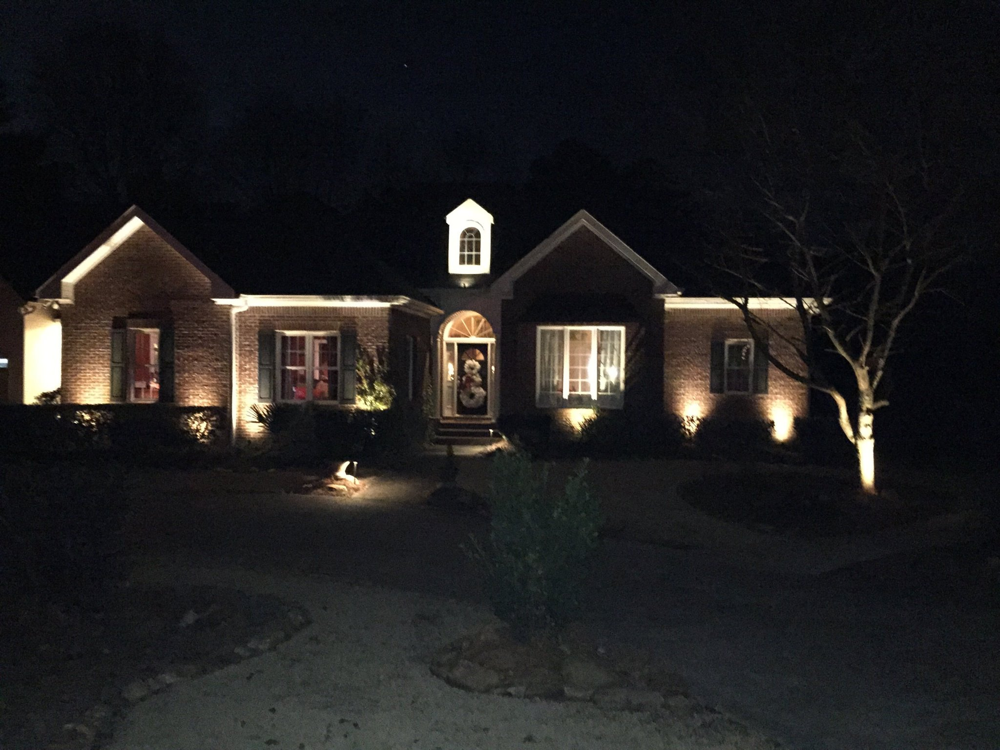 residential exterior lighting sunset outdoor lighting